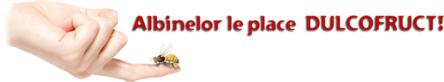 Albina pe mana (simbol Cirast) + slogan